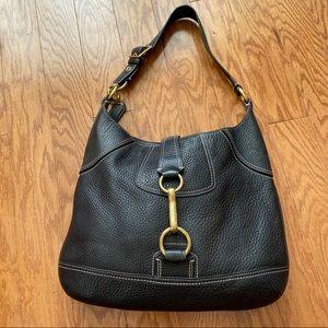 Leather Coach Hobo Shoulder Bag